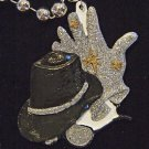 MJ Hat and Gloves Mardi Gras Bead Necklace New Orleans Beads Carnival Party