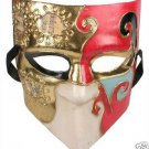 Mask Mardi Gras Mardi Gras El Medico Ivory Gold Red