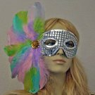 Pastel Ice Contessa Costume Dress Halloween Mask Party