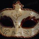 Venetian Mask Halloween Costume Ivory Red Gold Costume