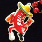 RED HOT CHILI PEPPER MAN DANCING Mardi Gras Beads