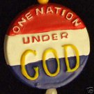 One Nation Under God Medallion Mardi Gras Bead Politics