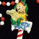Christmas Party Bead Necklace YOUR CHOICE Beads Snowman Elf Wreath Teddy Bear