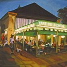 Cafe Du Monde Coffee Jazz Band New Orleans Baltas Matted Art Print