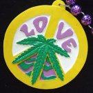 Mary Jane Love Marijuana Peace Sign Mardi Gras New Orleans Beads Party Pot