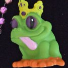 Rubber Crown Frog Prince Mardi Gras Bead Necklace New Orleans Beads Squeaks