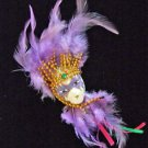 Porcelain Jester Feather Ornament YOUR CHOICE STYLE Mardi Gras New Orleans