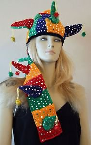 Jester Mardi Gras Hat YOUR CHOICE OF MANY STYLES  Masquerade Halloween Party