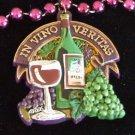 In Vino Veritas Wine Mardi Gras Beads Grapes Harvest