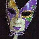 Fancy Venetian Full Face Mask Mardi Gras Halloween Masquerade Costume Party