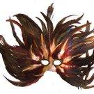 Feather Mask Flame Autumn Mardi Gras Masquerade Ball Decor Party Prom