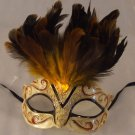 Eye Mask Gold with Jewel Costume Prom Mardi Gras New Orleans Party Masquerade