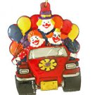 Clown Car Balloons Party Mardi Gras Bead Necklace New Orleans Funny Colorful