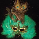 Green Mardi Gras Feather Masquerade Party Mardi Gras