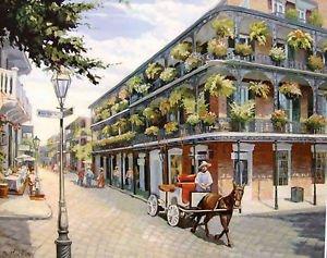 Donkey Cart Jackson Square New Orleans Art Print Matted Print Baltas