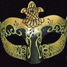 Venetian Masquerade Party Eye Mask Samba Black & Gold