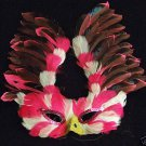 Raspberry Swirl Bird of Prey Mardi Gras Ball Party Mask