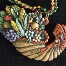 Thanksgiving Party Bead Necklace YOUR CHOICE Beads Turkey Musket Horn of Plenty