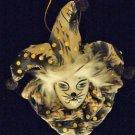 Porcelain Jester Cat Face Tip Ornament YOUR CHOICE STYLE Mardi Gras Orleans