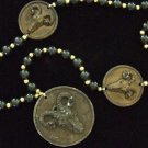 Ram Head Mardi Gras Bead Necklace New Orleans Party Dramatic Bold