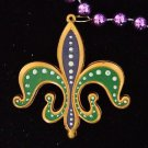 Fleur de Lis Mardi Gras Design Bead Necklace YOUR CHOICE OF MANY New Orleans
