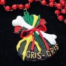 Voodoo Gris Gris Bead Necklace Mardi Gras Spells Omen Beads Magic Mojo Revenge