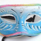 Blue Glitter Masquerade Ball Party Mask Unisex Theater