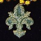 Fleur de Lis Filigree Mardi Gras Bead Necklace YOUR CHOICE OF MANY New Orleans
