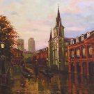 St Louis Cathedral Twilight New Orleans Baltas Matted Art Print Cajun Creole