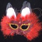 Alley Cat Burgundy Kitten Masquerade Ball Party Mask Mardi Gras New Orleans