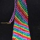 Gay Pride Rainbow Bead Tie Mardi Gras Halloween Costume Party Rainbow Beads