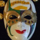 Mardi Gras Jester Mask Musical Notes Krewe Party Beads