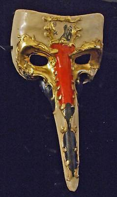 Venetian Mask HALLOWEEN Drama Mens Ivory & Gold Costume
