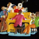 New Orleans Jazz Quartet Mardi Gras Bead Piano Bass