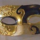 Venetian Mask Mardi Gras Man Pierrot Masquerade Music Black Gold Costume Party