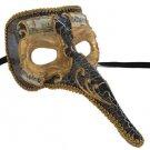 Venetian Mask Zanni Long Nose Set #2 YOUR CHOICE COLOR Mardi Gras Prom Costume