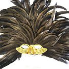Venetian Mask Mardi Gras Queen Cleopatra Feather Gold Sequin New Orleans