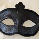 Gothic Solid Black Venetian Eye Mask Mardi Gras Prom Halloween Costume Party