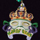 Mardi Gras CROWN MASK ROYALTY New Orleans Party Beads
