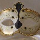 Venetian Eye Mask Samba Black & Gold Prom Mardi Gras Masquerade Costume