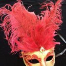 Showgirl Ostrich Mask Your Color Choice Mardi Gras New Orleans Costume Party