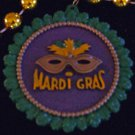 New Orleans Mardi Gras Medallion Wreath Necklace Beads