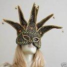 Venetian Mask Masquerade Large  Costume Party BLACK FUN