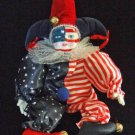 American Jester Porcelain Doll Mardi Gras New Orleans
