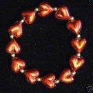 BRACELET RED HEART HEARTS Mardi Gras New Orleans