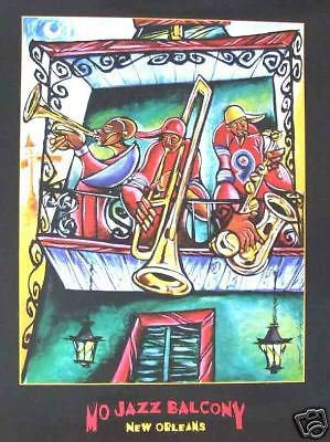 Lionel Milton 2005 Mo Jazz Balcony New Orleans Art New Orleans French Quarter