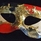 Venetian Mask Mardi Gras Costume Blood Gold Ebony Ivory