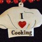 I LOVE COOKING CHEF HAT Mardi Gras Beads New Orleans Creole Cajun Cook