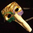 Ivory Gold Venetian Man's Masquerade Mardi Gras Mask