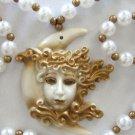 Crescent Moon Goddess Mardi Gras Bourbon Street Mardi Gras Beads New Orleans Bay